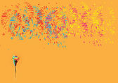 Diwali firework display — Stock Vector