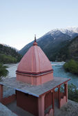 Temple at Bhagirathi River, Gangotri, Uttarkashi District, Uttar — Stock Photo