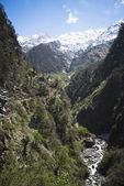 Yamuna River at Yamunotri, Garhwal Himalayas, Uttarkashi Distric — Stock Photo