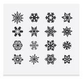 Snowflake winter set (vector ) — Stock Vector