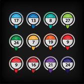 Vector calendar — Stock Vector