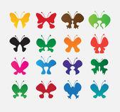 Papillons colorés — Vecteur