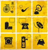 ícones de mídia retrô — Vetorial Stock