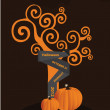 Stockvektor : Illustration of halloween background