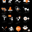 Illustration of halloween icons set — Stock Vector #37845113