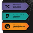 Illustration of halloween banner set — Stock Vector #37845119