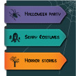 Illustration of halloween banner set — Stock Vector
