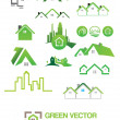 Illustration of Green house vector Icons — Stock Vector #37845177