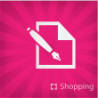 Stock Vector: Illustration of shopping icon