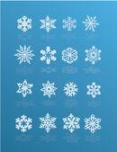 Illustration of snowflake winter set — Stock Vector