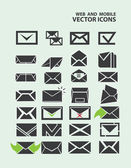 Illustration of email icon set — Stock Vector