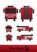 Fire truck Illustration — Stock Vector