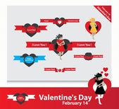 Valentine's day cards — Διανυσματικό Αρχείο