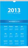 Illustration of 2013 calendar — Stock Vector