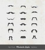 Illustration of mustache set — Vecteur