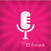 Illustration of microphone icon — Stock Vector