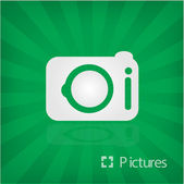 Illustration of camera icon — Vector de stock