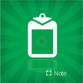 Illustration of note icon — Cтоковый вектор