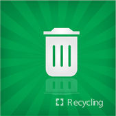 Illustration of recycle box icon — Stock Vector