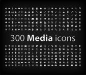 Illustration of Media Icon set — Stock vektor