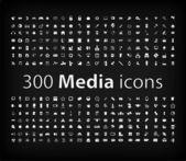 Illustration of Media Icon set — Vecteur