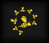 Illustrazione di ape set — Vettoriale Stock