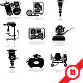 Illustration of Working tools icon set — Stock Vector