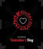 Illustration of valentines day card — Wektor stockowy