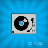 Record player icon — Stock Vector