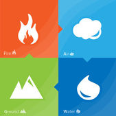 Fire, water, air, ground — Stock Vector