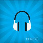 Headphone icon — Stock Vector