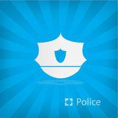 Polis simgeler gösteren resim — Stok Vektör