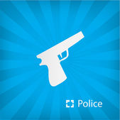 Illustration of police icon — Stock Vector