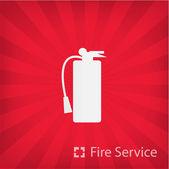Ilustración del icono del servicio de bomberos — Vector de stock