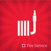 Illustration of fire service icon — Stock Vector