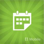 Ilustración del icono móvil — Vector de stock