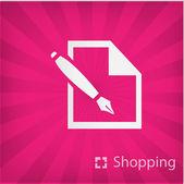 Illüstrasyon simge alışveriş — Stok Vektör