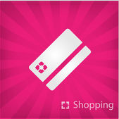 Illustration of shopping icon — Stock Vector