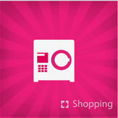 Ilustração de ícone de compras — Vetor de Stock