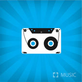 Illustration of Cassette icon — Stock Vector