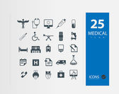 Illustration of medical icons set — Stock Vector