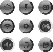 Illustration of mobile icons set — Wektor stockowy