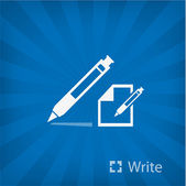 Illustration of ball pen icon — Stock Vector