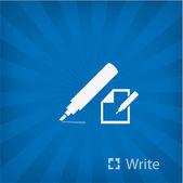 Afbeelding van markering pictogram — Stockvector