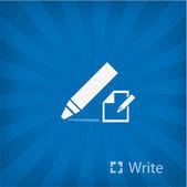 Illustration of Marker icon — Stock Vector
