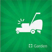 Illustration of lawn mower icon — Stock Vector