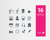 Illustration of Office icons — Stock Vector