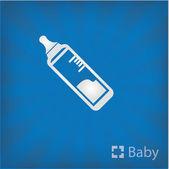Иллюстрация сестринского бутылка значок — Cтоковый вектор
