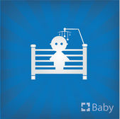 Doll bed icon — Stock Vector