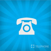 Illustration of old phone icon — Stock Vector